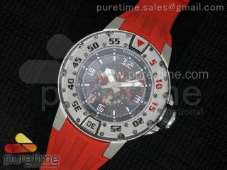 RM028 47mm RMF SS Skeleton Dial on Red Rubber Strap A7750