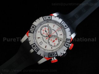 Chronoexcel 1:1 Ultimate Edition Red SS White/Red Dial on Black Rubber Strap