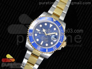Submariner 116613 LB VRF 1:1 Best Edition YG Wrapped Bezel Blue Dial on SS/YG Bracelet A2836 MAX Version