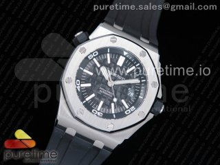 Royal Oak Offshore Diver 15703 JF 1:1 Best Edition on Rubber Strap A2824 V9 (Free XS Strap)