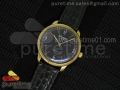 Senator Automatic YG Black Dial on Black Leather Strap A3959