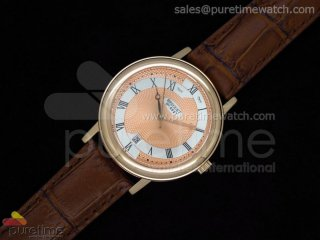 Classique Automatic RG Salmon Dial on Leather Strap A2824