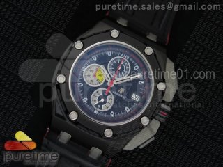 Royal Oak Offshore Grand Prix PVD Lite Black Dial on Black Leather Strap Jap Quartz