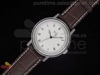 Classique Auto 526 SS White Dial on Brown Leather Strap A2824