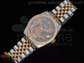 Datejust Special Edition RG Gray MOP Dial on SS/RG Bracelet A21J