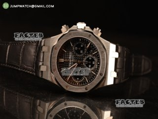 Royal Oak Chronograph Black Dial With Black Strap Swiss Valjoux 7750 26331ST.OO.1220ST.01