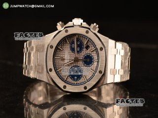 Royal Oak Chrono 316L Solid Steel White Blue SubDial 7750 Automatic 26331OR.OO.1220OR.01