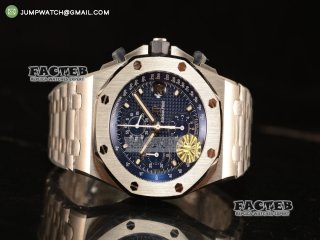 Audemars Piguet Royal Oak OffShore Run 12@Sec 1:1 Clone AP 3126 With Blue Dial JH Edition 26237ST.OO.1000ST.01