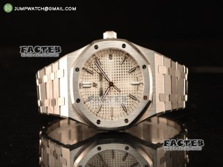 Audemars Piguet Royal Oak 41mm Clone AP 3120 All Steel White Dial 15400ST.OO.1220ST.02