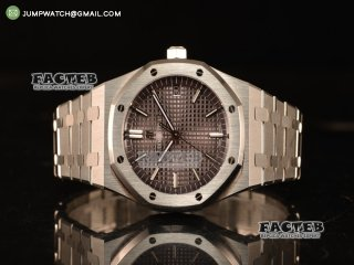 Audemars Piguet Royal Oak 41mm Clone AP 3120 All Steel Grey Dial 15400ST.OO.1220ST.04