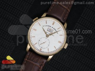 Classic 1815 RG Big Date White Dial on Brown Leather Strap A23J