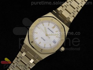 Royal Oak Automatic YG White Dial on Bracelet A2824