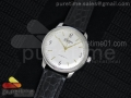 Senator Automatic SS White Dial on Black Leather Strap A3959