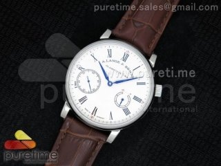 1815 Classic Power Reserve Stainless White Dial Leather Asian Unitas A21J