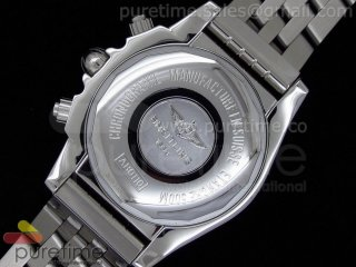Chronomat B01 GMT SS Graphite Dial Diamond Bezel on Bracelet A7750