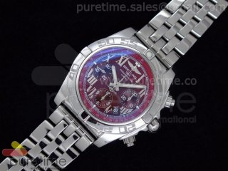Chronomat B01 V1 SS Red Dial Roman Markers on Bracelet A7750