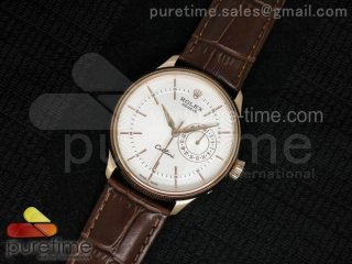 Cellini 50515 RG White Dial on Brown Leather Strap A23J