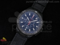 Stole Toss Flyback Chrono PVD Black Dial on Black Leather Strap JAP Quartz