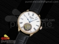 Senator Meissen Tourbillon RG White Dial on Black Leather Strap