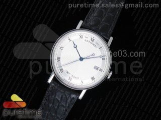 Classique Auto 5177 SS MK 1:1 Best Edition White Hobnail Textured Dial on Black Leather Strap MIYOTA 9015