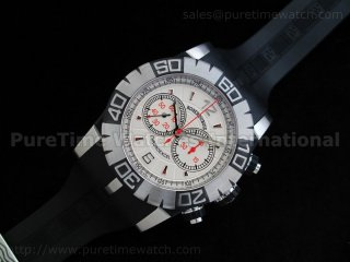 Chronoexcel 1:1 Ultimate Edition SS White/Red Dial on Black Rubber Strap
