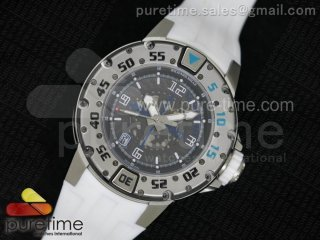 RM028 47mm RMF SS Black Skeleton Dial on White Rubber Strap A7750