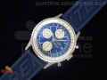 Navitimer Fighters Special Edition SS Blue Dial on Blue Rubber Strap A7750