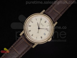 Classique Auto 526 RG Champagne Dial on Brown Leather Strap A2824