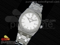 Lady Royal Oak 33mm SS JF 1:1 Best Edition Silver Textured Dial on SS Bracelet Swiss Quartz