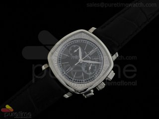 Ladies Complicated Watches 7071 SS Quartz Black on Black Strap