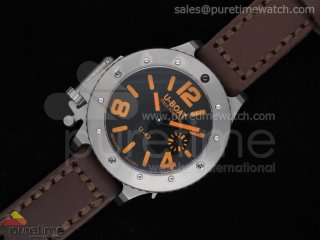 U42 Ti Black Dial Orange Mark on Brown Leather Strap A6497