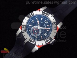 Easy Diver Automatic SS Black/Red on Rubber Strap ETA2824