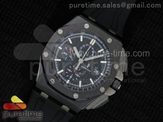 Royal Oak Offshore 44mm Real Ceramic JF 1:1 Best Edition Black Dial A3126