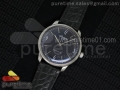 Senator Automatic SS Black Dial on Black Leather Strap A3959