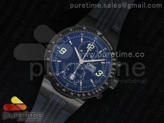 Williams F1 Team Chrono PVD Black Dial on Black Rubber Strap A7750