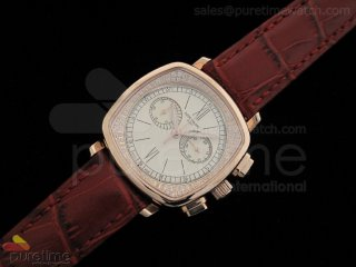 Ladies Complicated Watches 7071 RG Quartz White on Red Strap