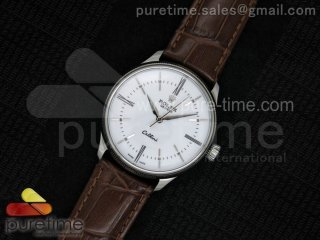 Cellini 50509 SS White Dial on Brown Leather Strap A2824