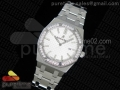 Lady Royal Oak 33mm SS JF 1:1 Best Edition Silver Dial Diamonds Bezel on SS Bracelet Swiss Quartz
