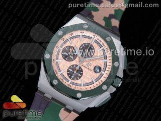 Royal Oak Offshore 2018 SIHH 'Combat' 44mm JF 1:1 Best Edition Green Ceramic Bezel on Camo Rubber Strap A3126 (Prototype)