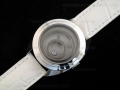 Happy Spirit SS White Dial on White Leather Strap