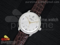 The Senator Sixties SS YLF White Dial on Brown lizard Leather Strap MIYOTA9015