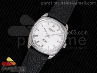 Cellini Danaos 4243 SS White Dial on Black Leather Strap A2824