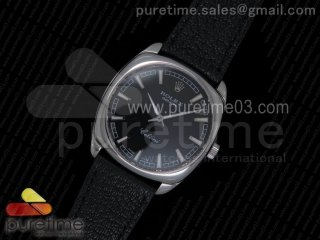 Cellini Danaos 4243 SS Black Dial on Black Leather Strap A2824