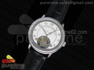 1815 Tourbillon SS White Dial on Black Leather Strap