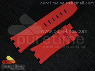 Audemars Piguet Normal Length Red Rubber Strap for Royal Oak Offshore Diver