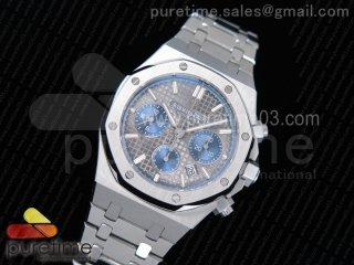Royal Oak Chronograph SS JHF Best Edition Gray/Blue Dial on SS Bracelet A7750