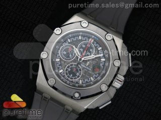 Royal Oak Offshore 44mm Titanium Michael Schumacher 1:1 JF Best Edition A3126 (FREE XS Strap)