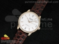 The Senator Sixties RG White Dial on Brown Leather Strap A23J