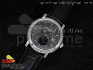Jules Audemars Automatic SS Black Dial on Black Leather Strap MIYOTA9015