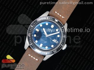 Divers 7720 SS ZZF 1:1 Best Edition Blue Dial on Brown Leather Strap A2836
